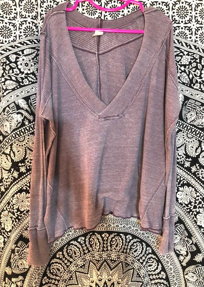 Free People Purple Sweater Shirt