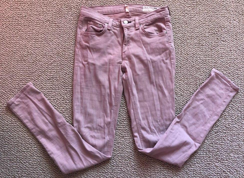 Rag & Bone Light Pink Skinny Jeans