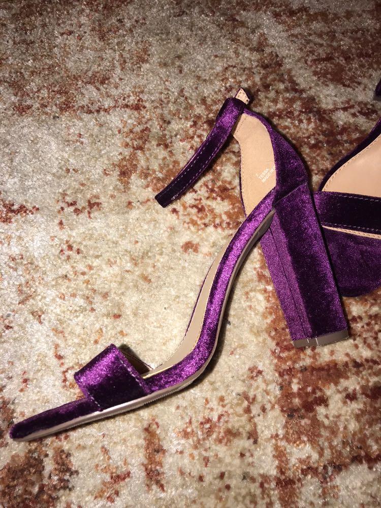 Charlotte Russe Purple Velvet Heel