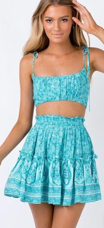 Princess Polly Blue Turquoise Two Piece Set