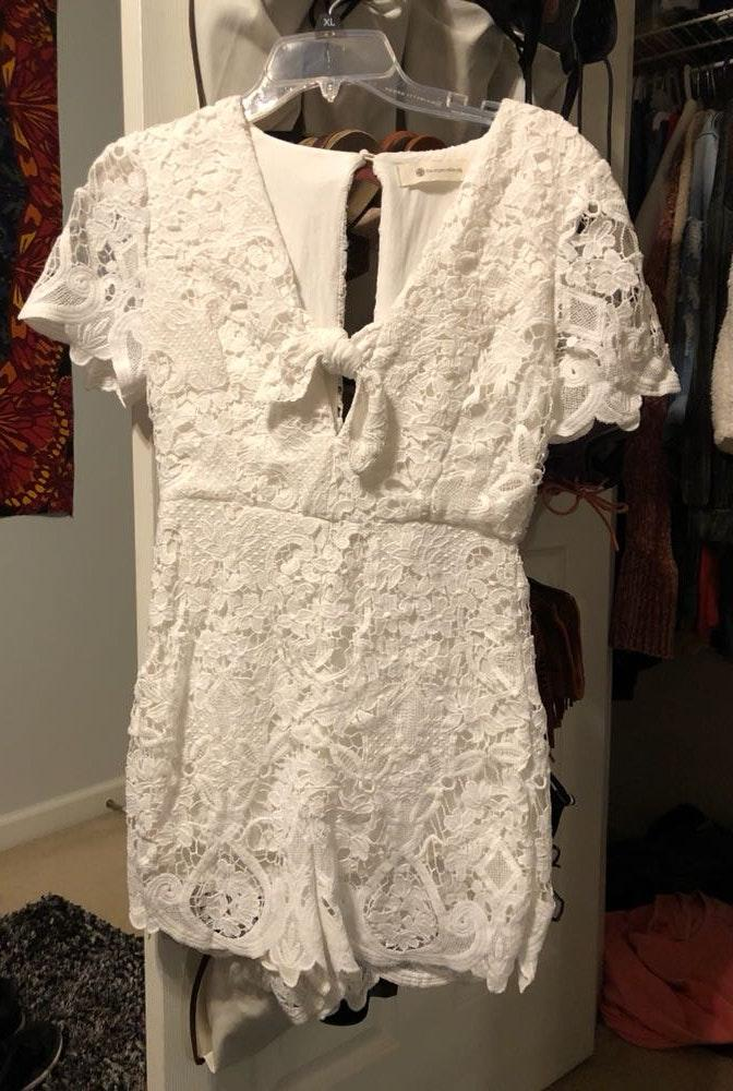 Impeccable Pig white lace romper
