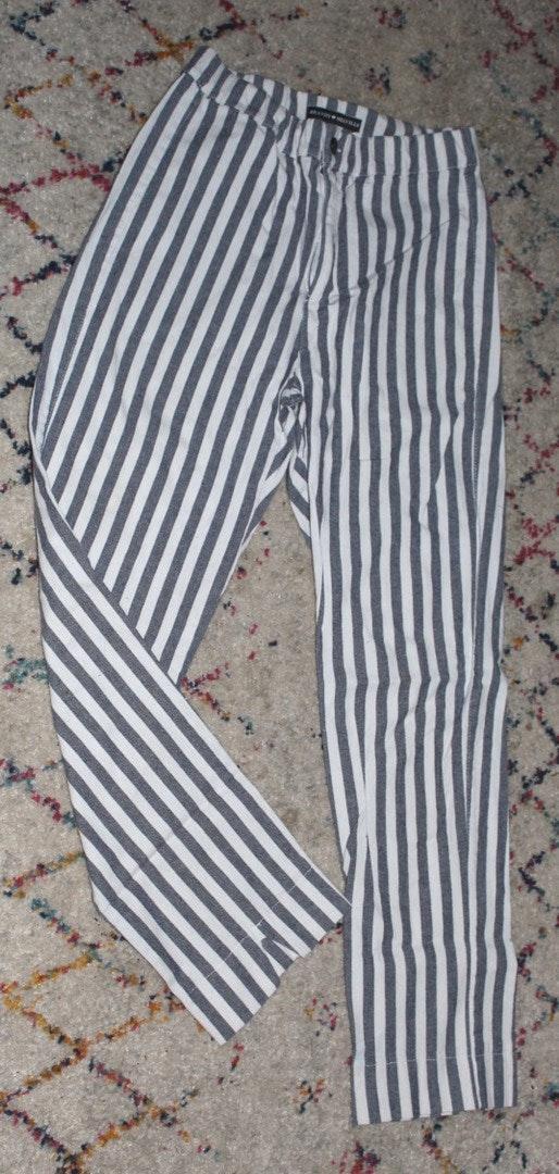 Brandy Melville Striped Elastic Waist Pants