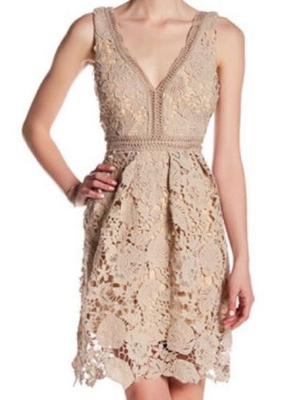 Romeo + Juliet Couture Taupe Lace Dress