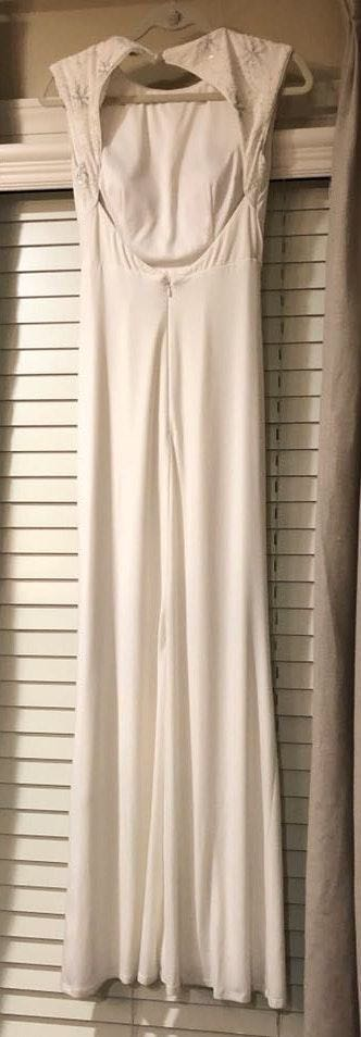 Saks 5th Avenue White Formal Gown