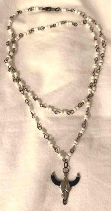 Bullhorn Wrap Necklace