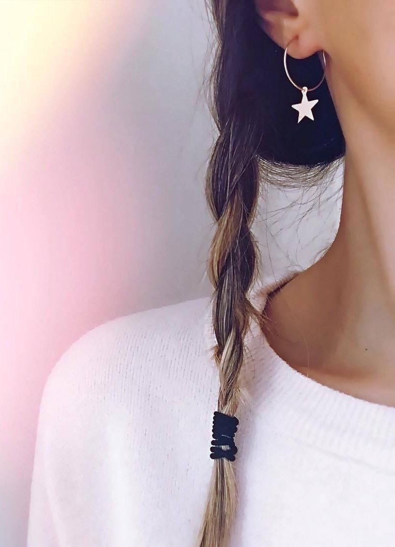 Boutique sliver star earrings