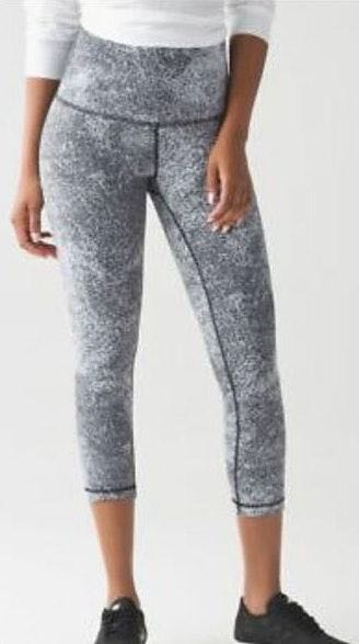 Lululemon black and white leggings