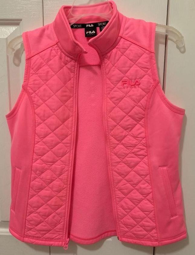 hot pink fila sports vest