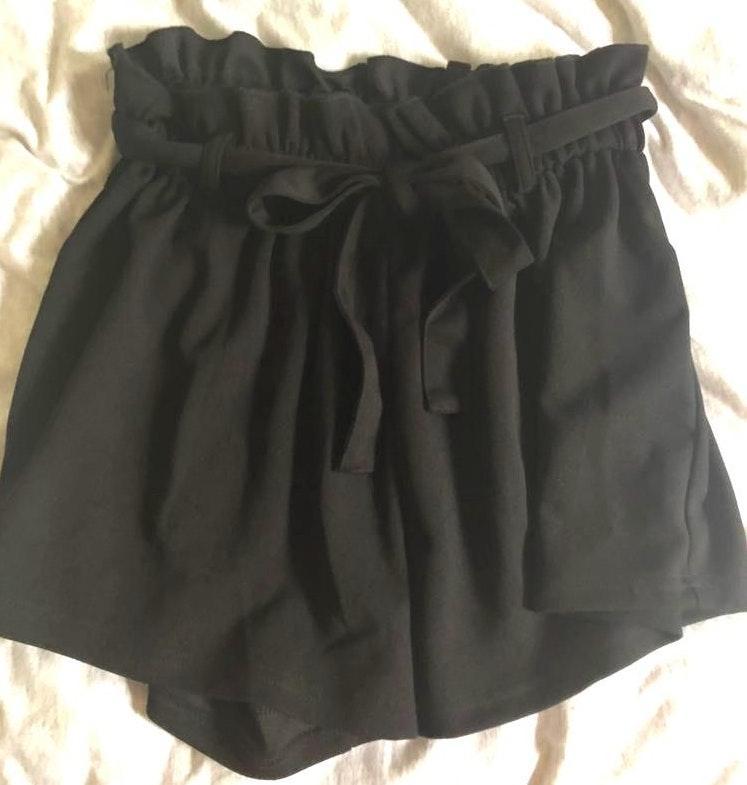 SheIn Black Tie Shorts