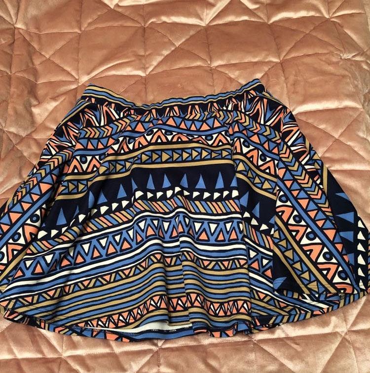 Body Central Multicolor Skater Skirt