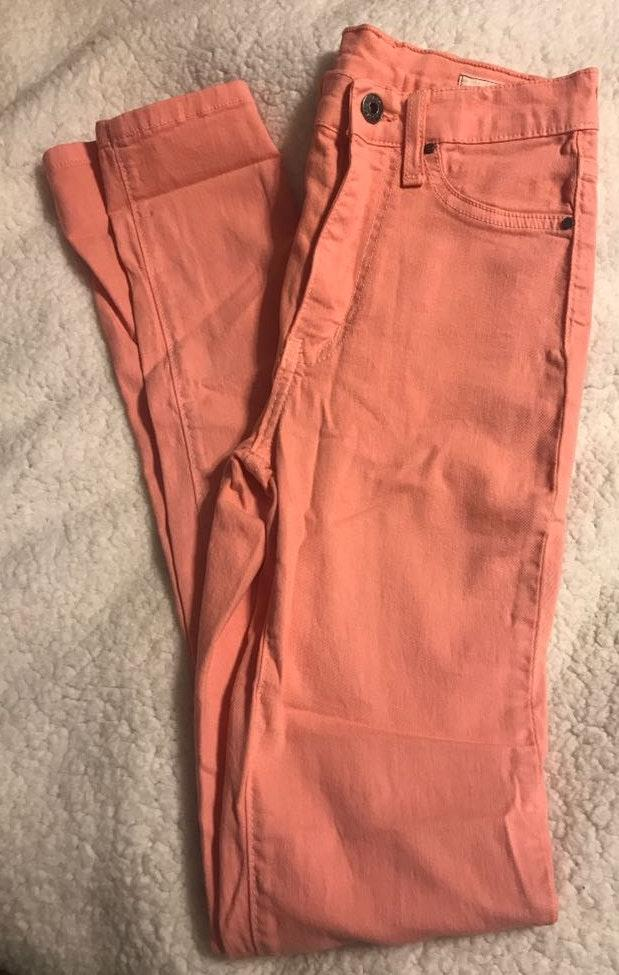 Angry Rabbit Salmon Colored Skinny Jeans