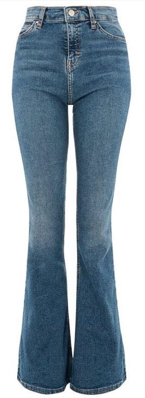 Topshop High Waisted Flare Jeans