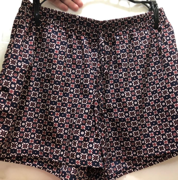 TJ Maxx navy blue patterned loose shorts