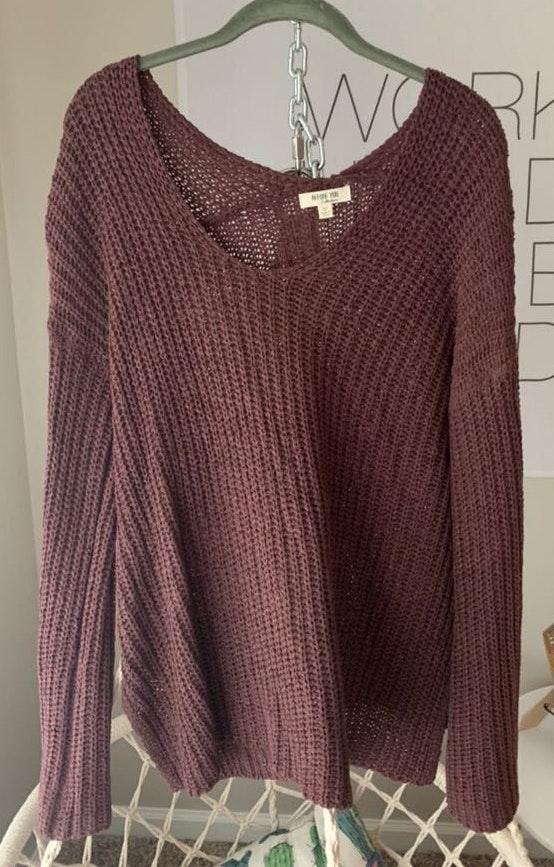 Oversized Purple Sweater
