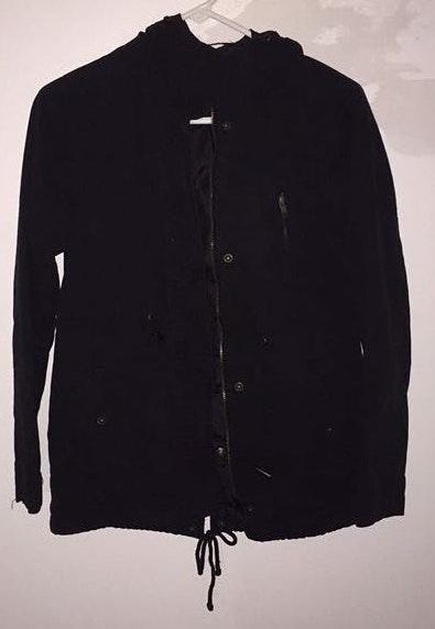 Ambiance Apparel Black Rain Coat