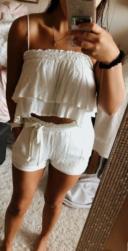 American Threads White Two Piece Set