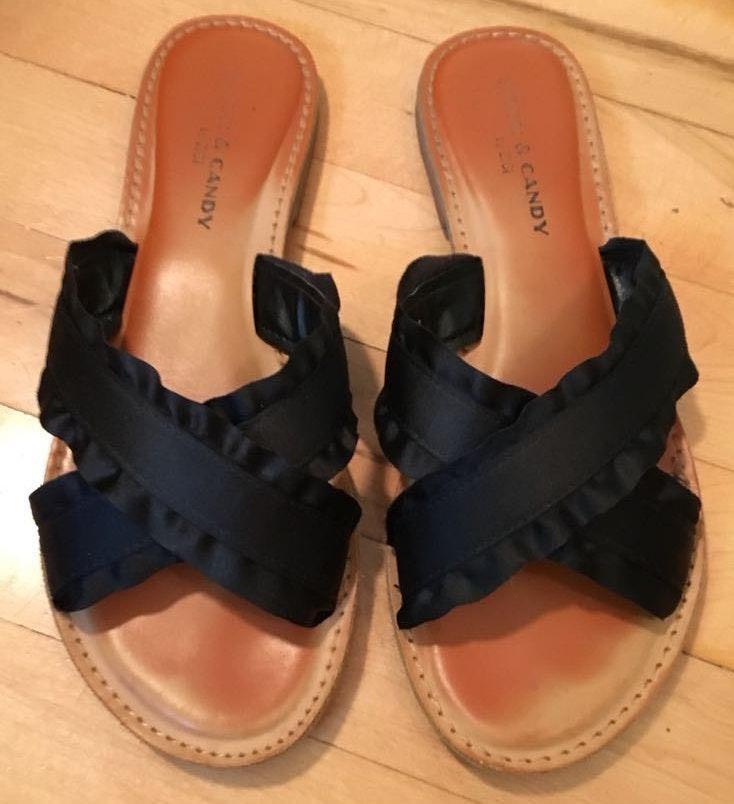 Zigi Soho Rock and Candy black cross sandals