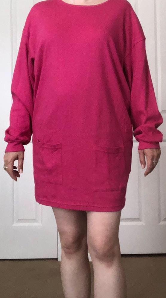 American Vintage Vtg Hot Pink Tunic Top