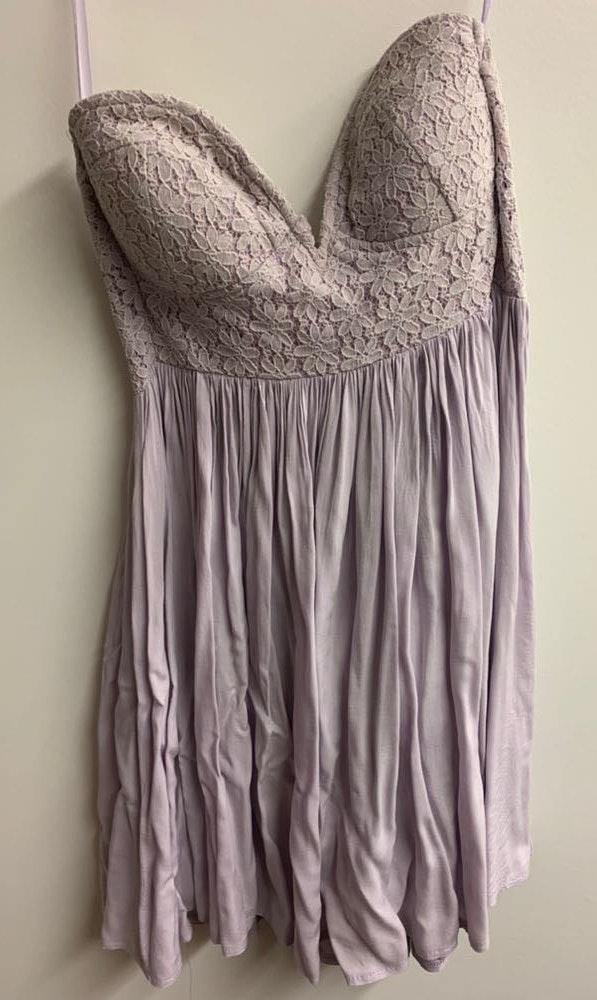 Xenia Lilac  Strapless Dress