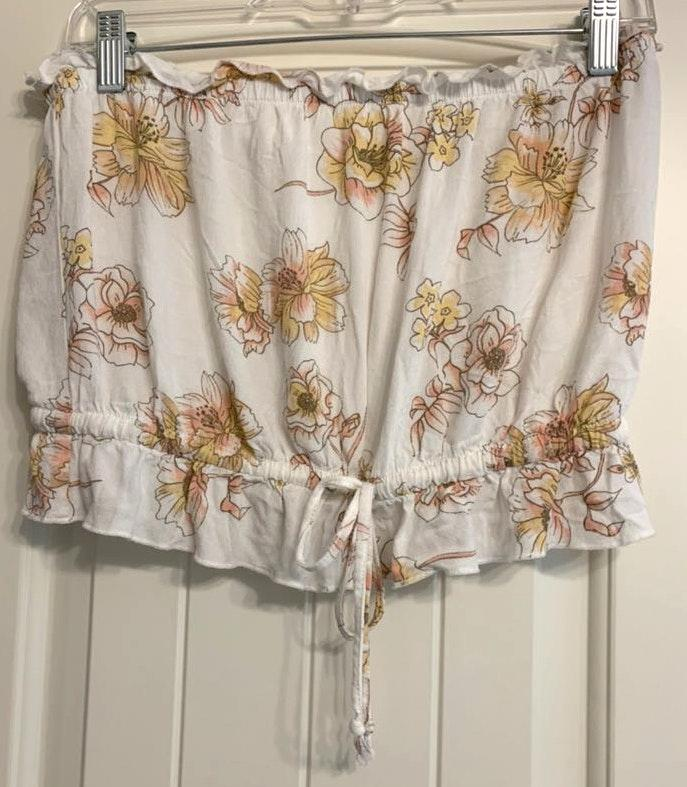 LA Hearts Floral Tube Top (never worn)