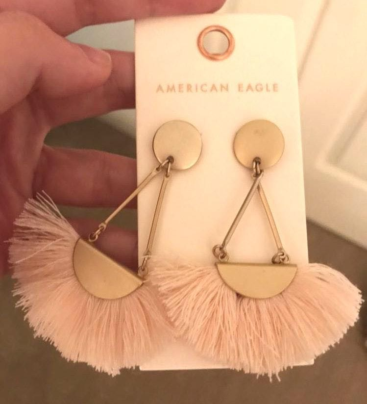 American Eagle Outfitters American Eagle Blush Fringe Earrings