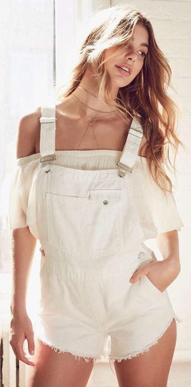 Urban Outfitters White BDG Overalls