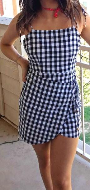 Game day Checkered Dress