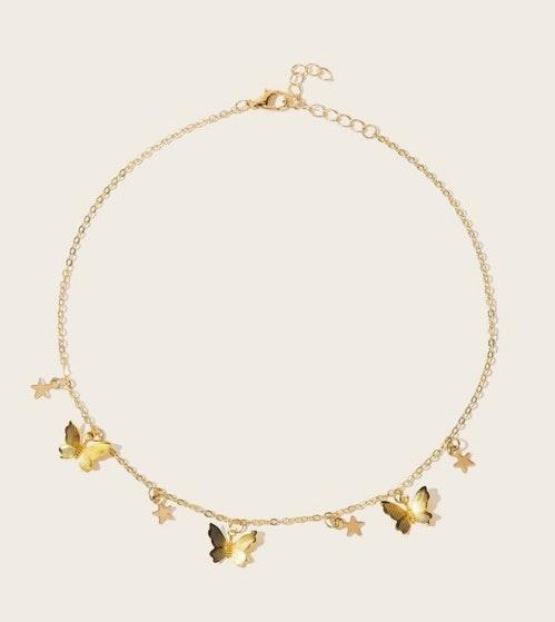Boutique Butterfly & Star Necklace