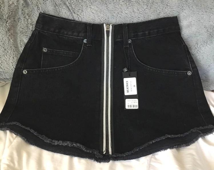 Carmar Denim Size 28 Reflective NWT Carmar Jean Skirt