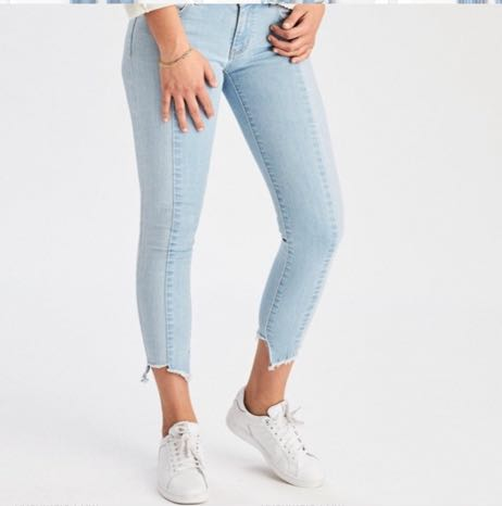 American Eagle Outfitters Two-Tone Ankle Skinnies