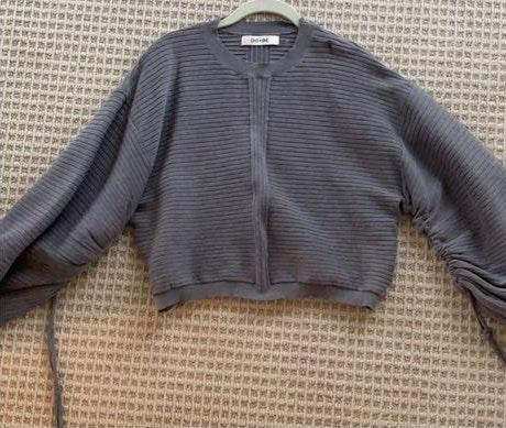 DO+BE Dobe Ruched Sleeve Sweater