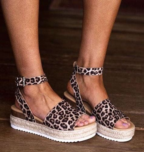 Cheetah Wedge Espadrilles