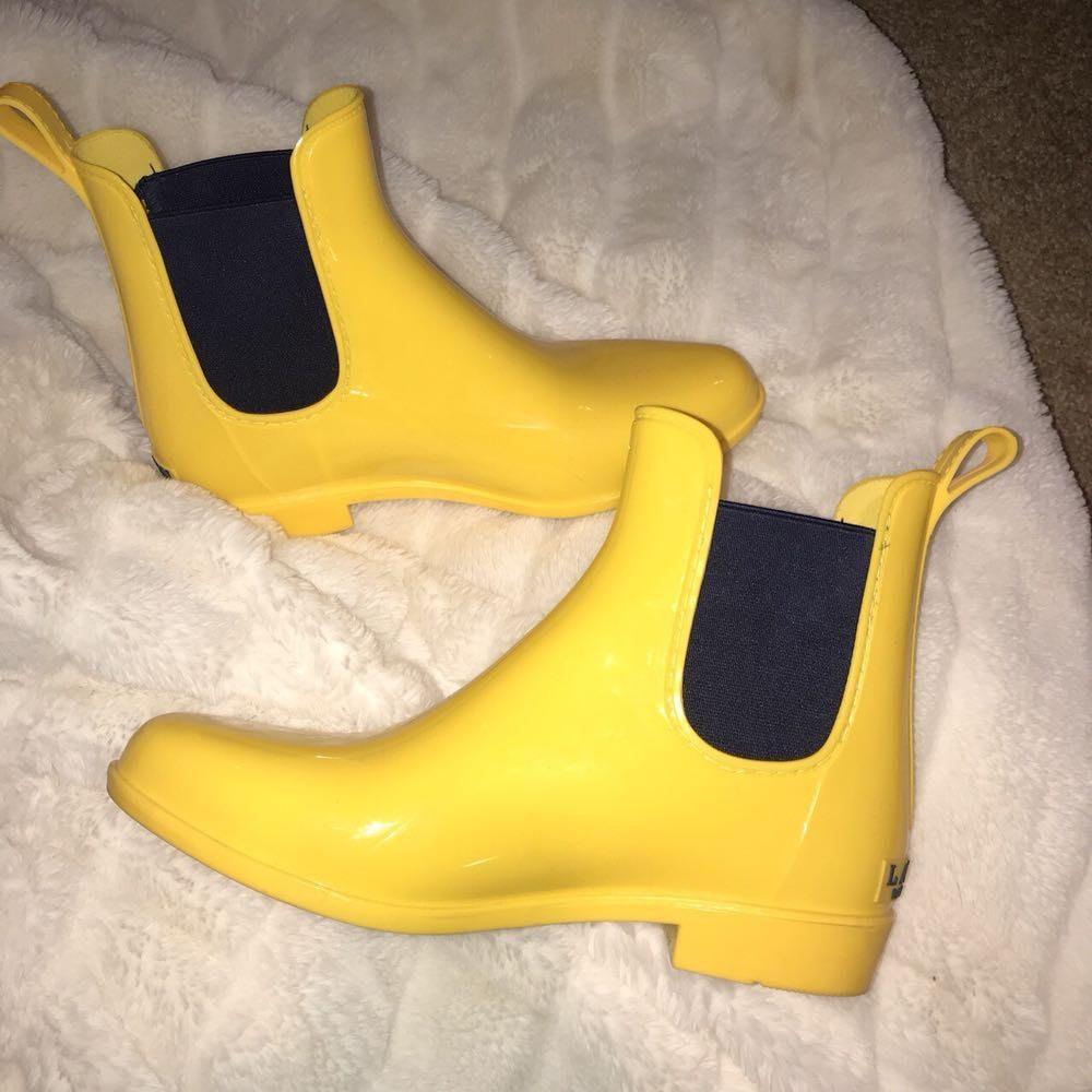 Ralph Lauren yellow short rain boots