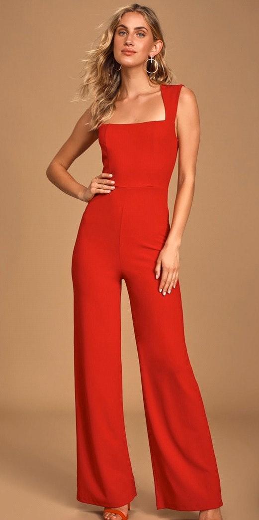 Lulus Red Jumpsuit