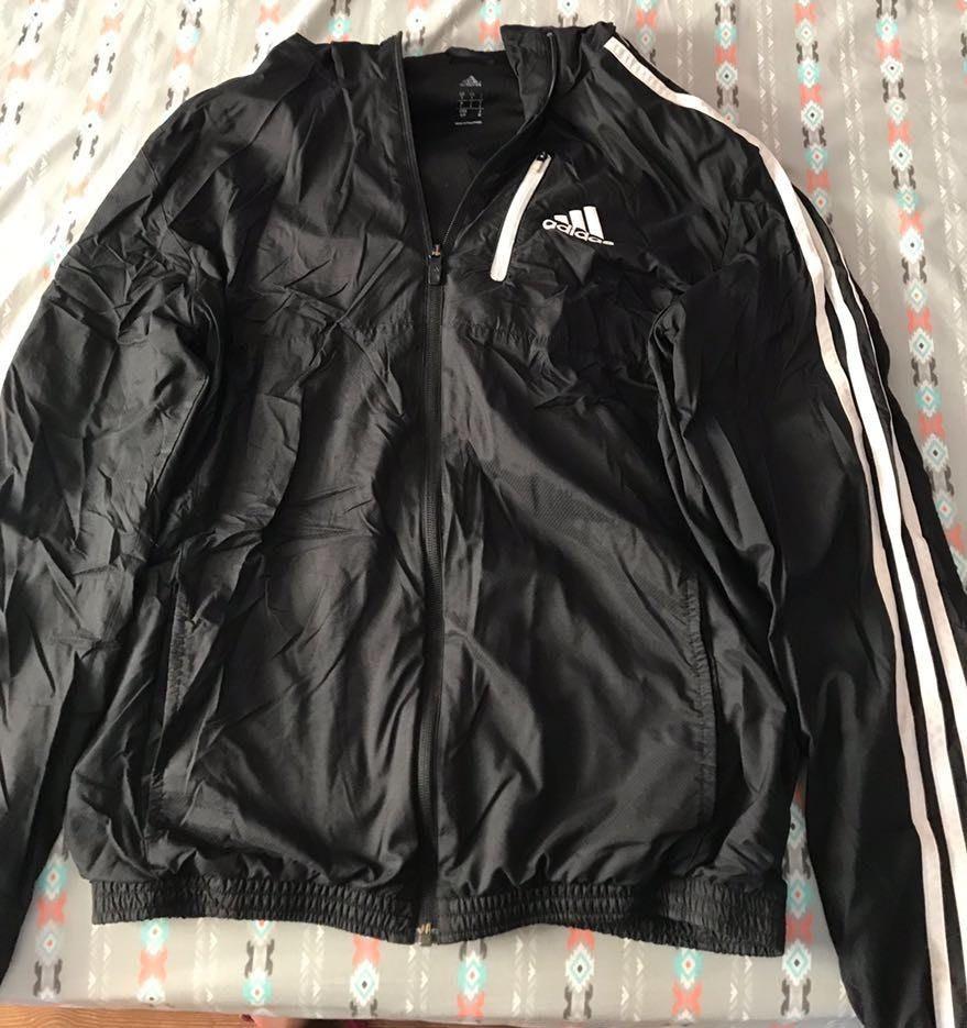 Adidas Black Zip Up Hoodie