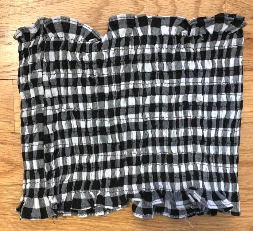 Amazon Black and White Gingham Tube Top