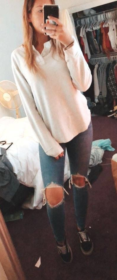 Levi's Busted Knee Skinny Jeans