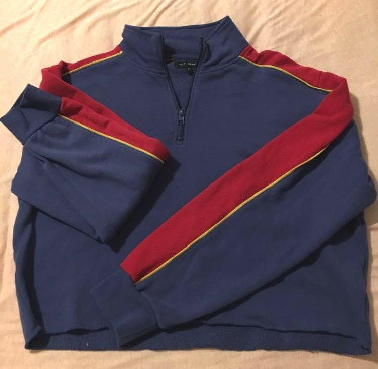 Pacsun half-zip cropped sweatshirt