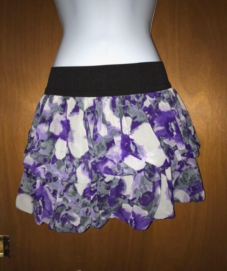 Full Tilt Floral Mini Skirt