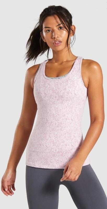 Gymshark Dusky Pink Marl Fleur Vest