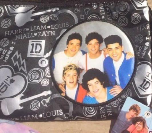 1D One Direction Crossbody Tote Bag Black Purse Niall Liam Harry Louis Zayn NWT