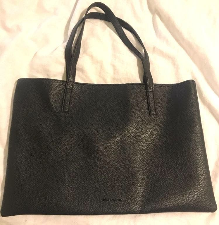 Vince Camuto Black Purse With Gray Stripe