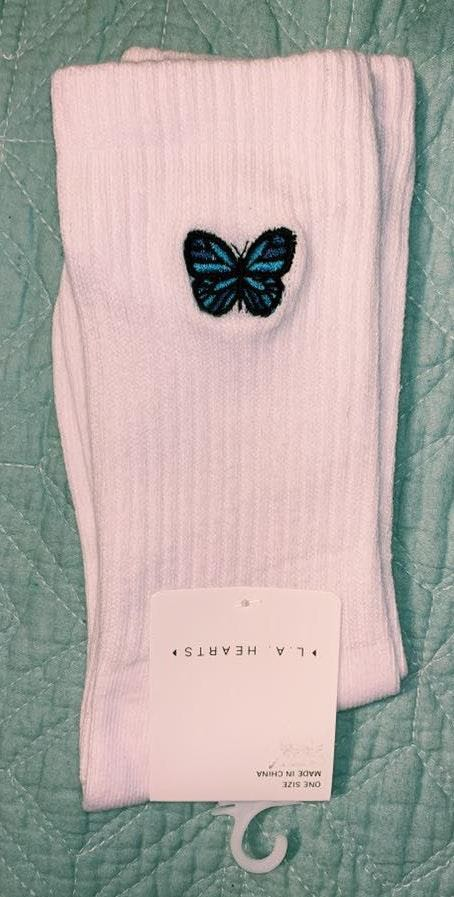 LA Hearts Butterfly Socks