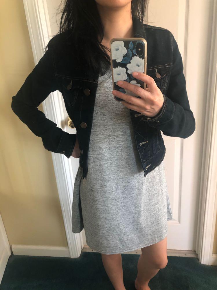 Amazon Grey Tshirt Dress With Pockets