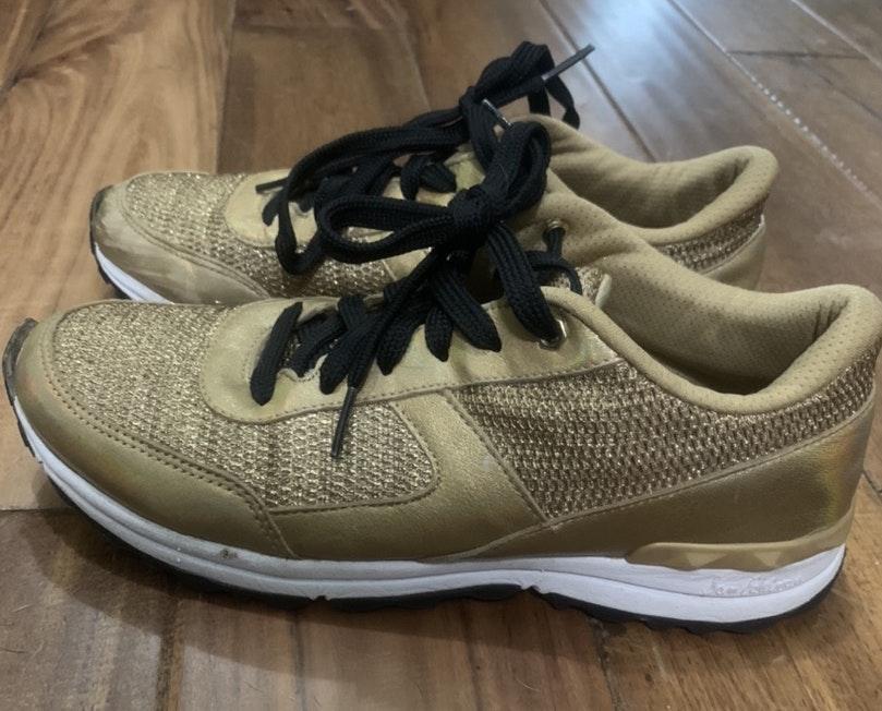 Sam Edelman Gold Sneakers | Curtsy