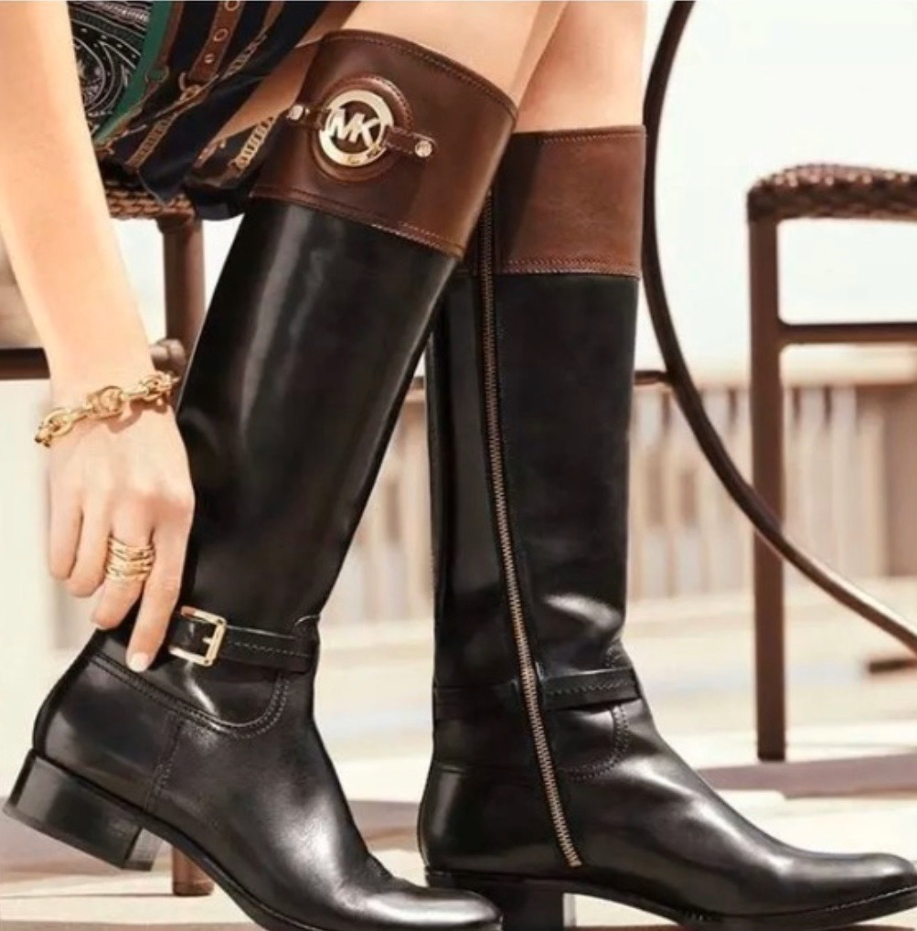 Michael Kors Two-tone Boots | Curtsy