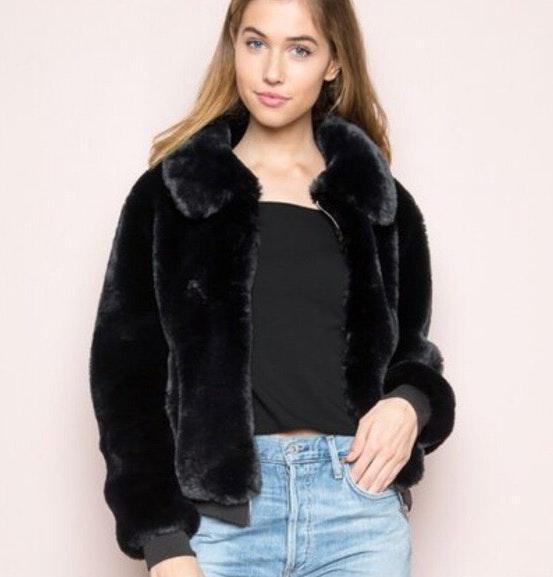 Brandy Melville Georgina Faux Fur Jacket
