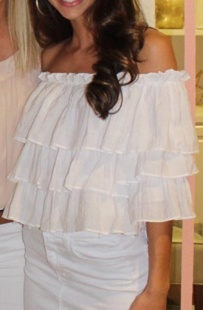 Sweet Wanderer Ruffle off the shoulder top