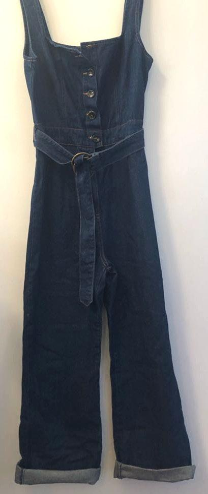 Honey Punch Jean Overall Jumper