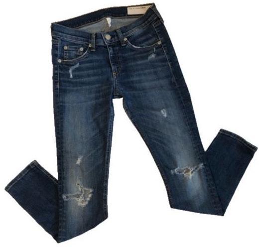 Rag & Bone Distressed Capri Jeans